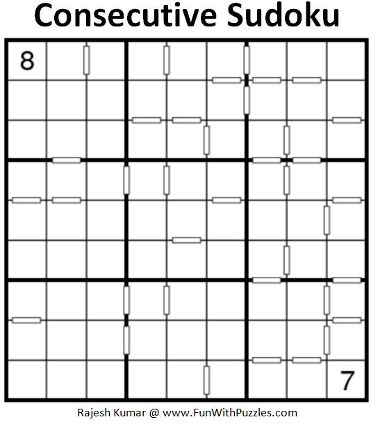 Consecutive Sudoku (Fun With Sudoku #201)
