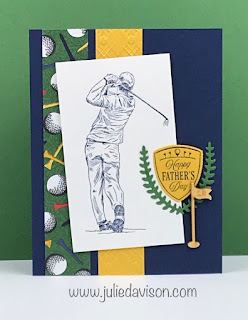 Stampin' Up! Clubhouse Country Club Father's Day Card ~ January-June 2020 Mini Catalog ~ #stampinup #GDP229 wwwjuliedavison.com