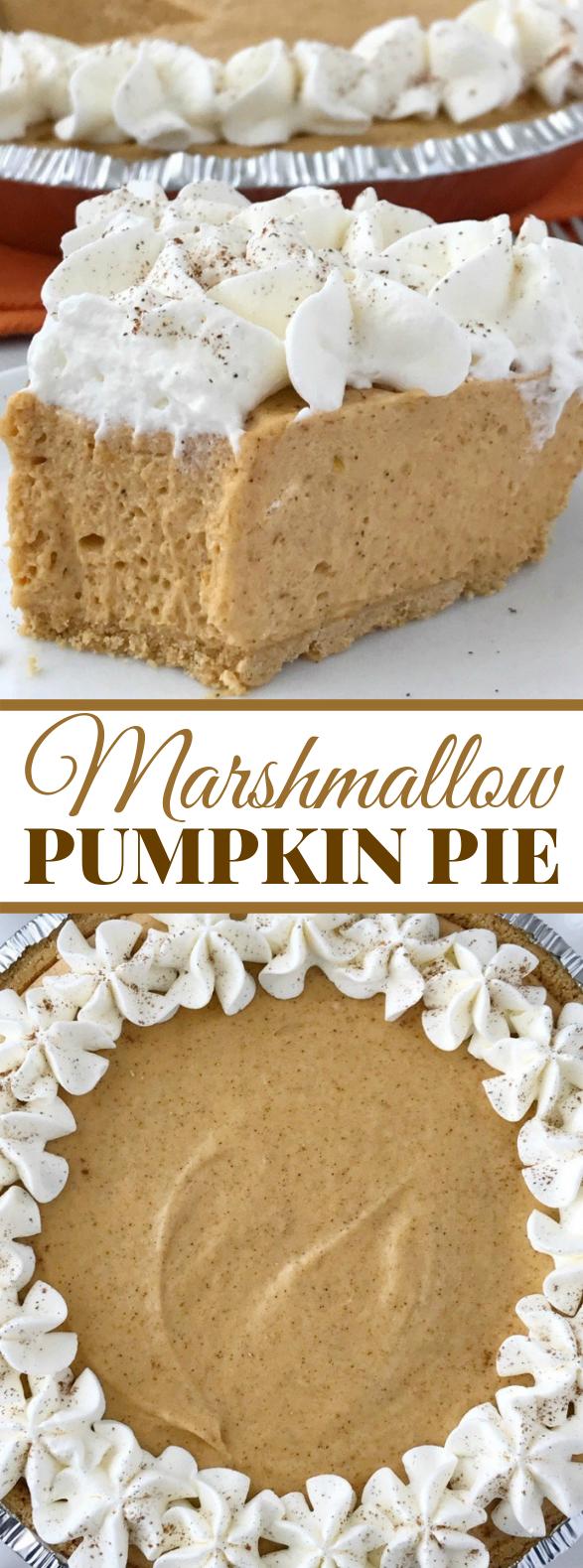 No Bake Marshmallow Pumpkin Pie #desserts #cake