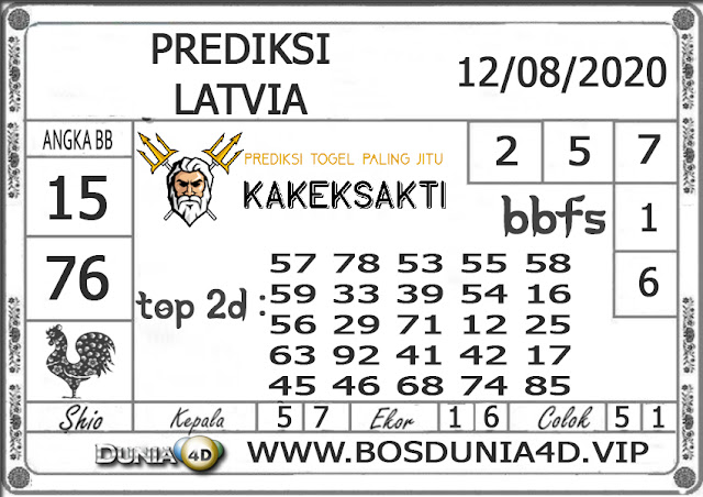 Prediksi Togel LATVIA DUNIA4D 12 AGUSTUS 2020