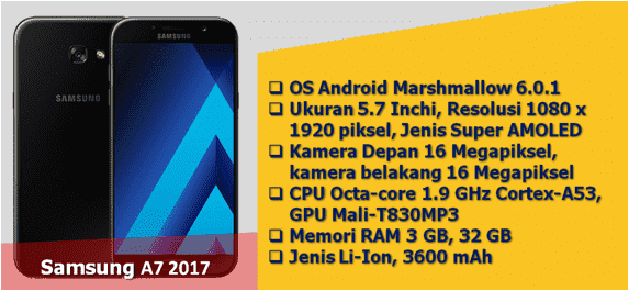 hp samsung android kamera 16 mp samsung a7 2017