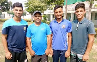 दा क्रिकेट गुरुकुल के हरियाणा स्टेट कैंप अंडर 19 में तीन खिलाडियों का चयन