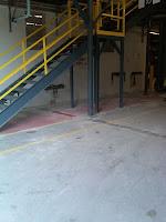 Concrete floor polishing.