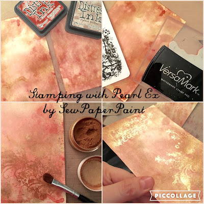 stamping with pearlex