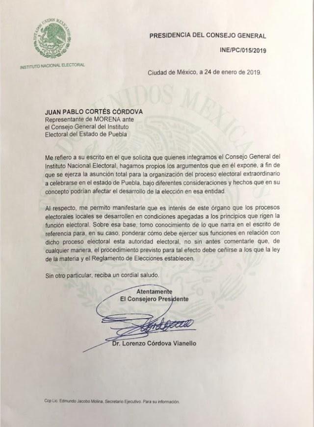 Admite INE solicitud de Morena