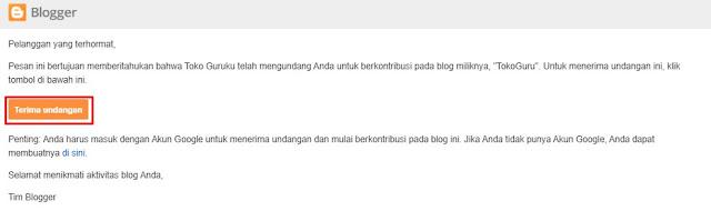 Cara Mengundang Orang Lain Bergabung ke Blogspot