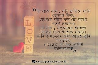 bengali sad shayari image