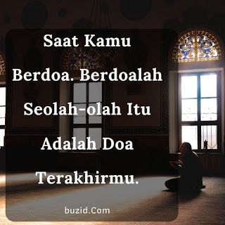 berdoa seperti doa terakhir