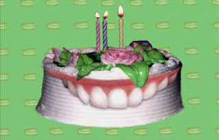 Birthday cakes don't have teeth, but you use your teeth to eat a birthday cake. Sesame Street Elmo's World Teeth Quiz