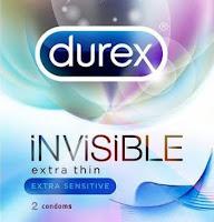 KONDOM DUREX INVISIBLE extra thin EXTRA SENSITIVE kondom tipis isi 2