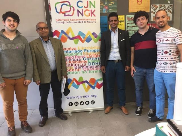الأمين العام لاتحاد الطلبة يلتقي بممثلين عن مجلس شباب مقاطعة نفارا الاسبانية