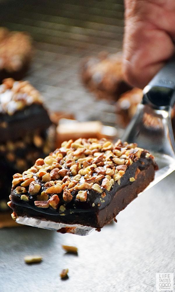 Salted Chocolate Caramel Bars | by Life Tastes Good