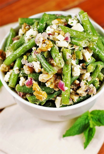 Fresh Green Bean, Walnut, & Feta Salad image