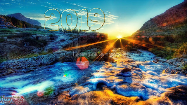 Happy New Year 2019 Nature Background Wallpapers For Desktop
