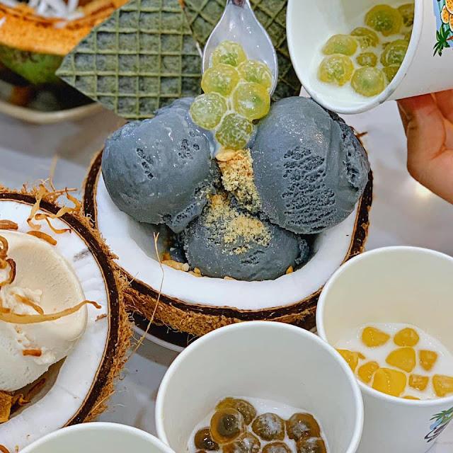 Kem dừa trân châu quận 1 đồng giá 28k navivu.com