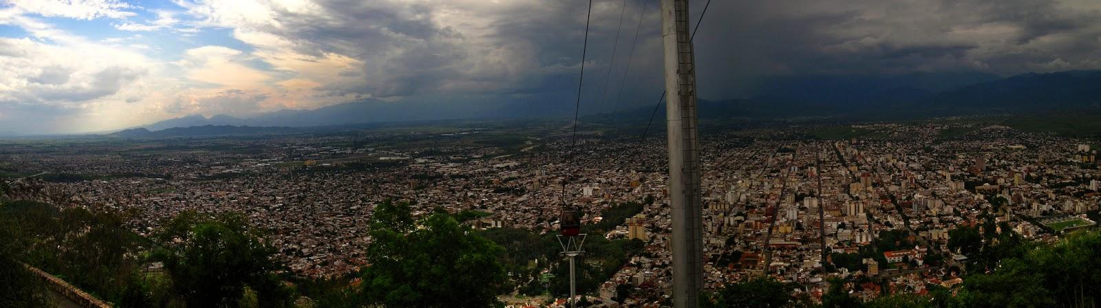 Salta, desde el cerro San Bernardo