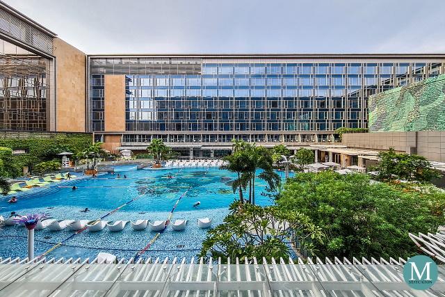 Swimming Pool at Hilton Manila