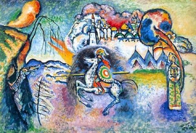 Quadro astratto di Kandinsky, Il cavaliere azzurro