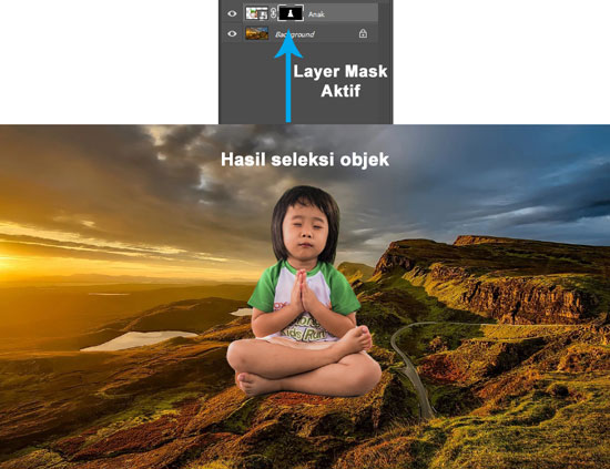 Seleksi objek yang rapi dengan Select and Mask Photoshop
