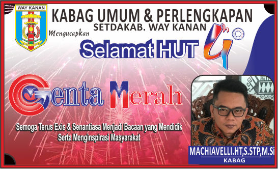 Kabag Umum Mengucapkan Selamat HUT 4 Tahun Genta Merah