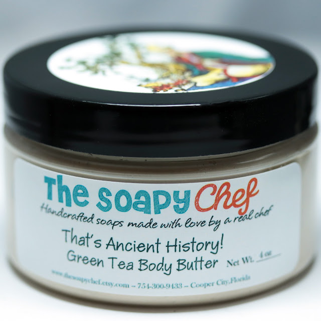 The Soapy Chef That's Ancient History! Green Tea Body Butter