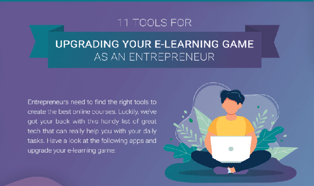 11 tools for upgrading your e-learning game as an entrepreneur #infographic