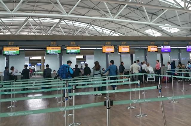 Flughafen Incheon - Lufthansa Check-in
