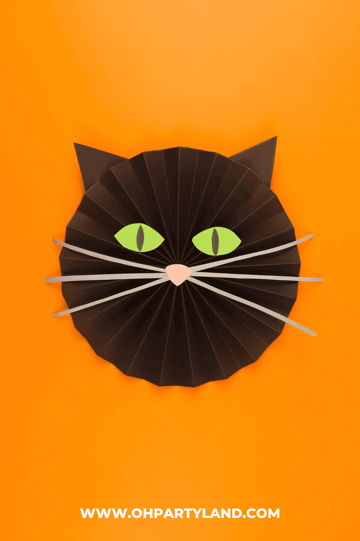 cat-halloween-paper-rosettes