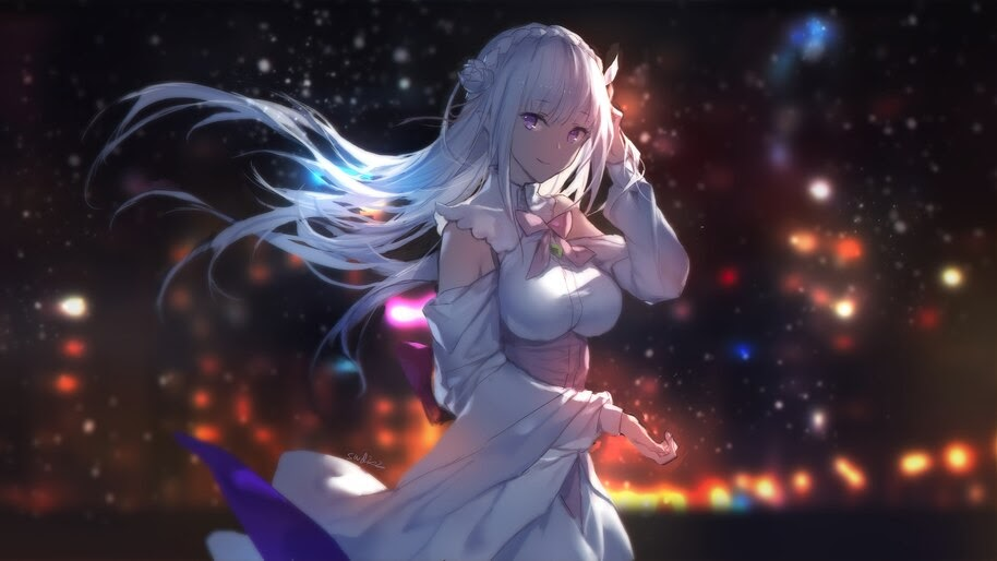 Emilia, Re:Zero, Anime, Girl, 4K, #4.2745