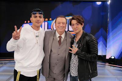 Mc Fioti, Raul e Kauan Okamoto (Foto: Rodrigo Belentani/SBT)