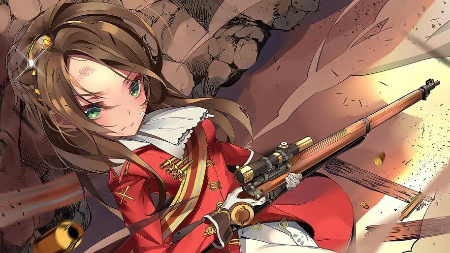 Anime, Girls Frontline, Lee-Enfield, Sniper, Rifle, 4K, #6.1097