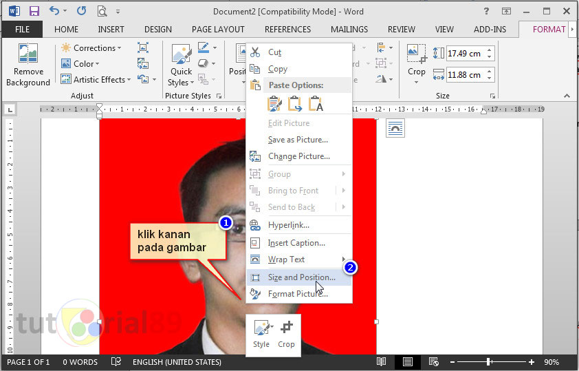 Cara Print Pas Foto Di Word Sesuai Ukuran Asli Video Tutorial89