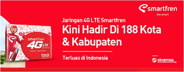 Jaringan Smartfren 4G di Wilayah Pontianak