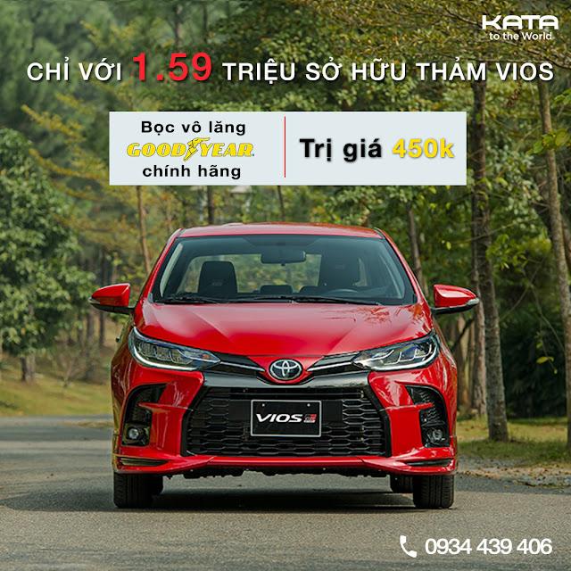 Thảm lót sàn Toyota Vios 2021 ưu đãi đặc biệt