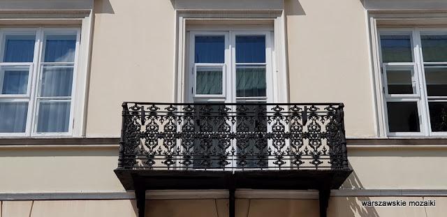 Warszawa Warsaw kamienica architektura architecture Śródmieście Lelewel dom Lelewela balkon