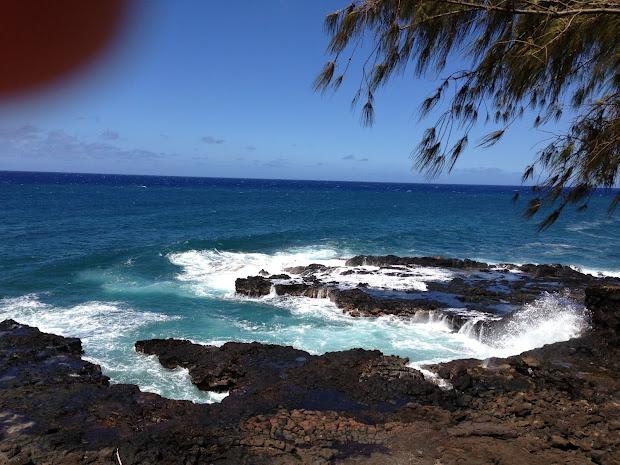 Brownie Mom Spouting Horn And Poipu Beach - Kauai 2013