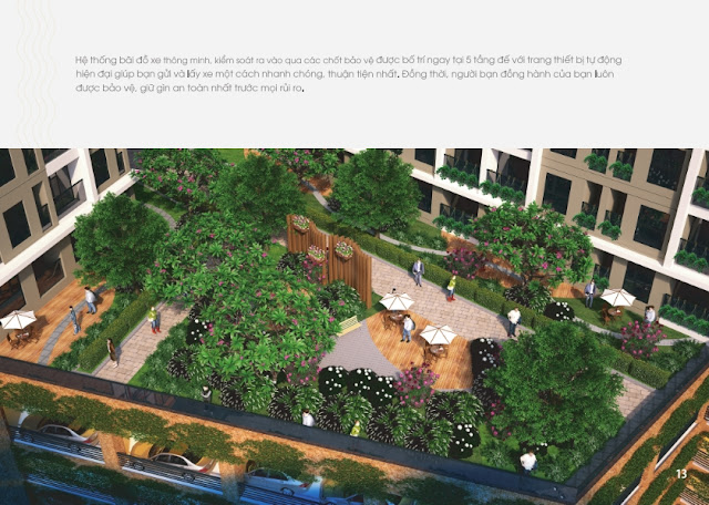 Bãi đỗ xe thông minh đươc chủ đầu tư ứng dụng cho chung cư Golden An Khánh