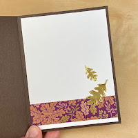 Tip for Embossing with Dies + Stampin' Up! Beauty of Tomorrow Embossed Leaves Card ~ July-December 2021 Stampin' Up! Mini Catalog ~ www.juliedavison.com #stampinup