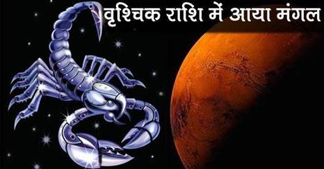 Mars Comes in Scorpio Sign