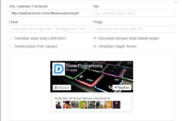 Fanspage Dunia Programming
