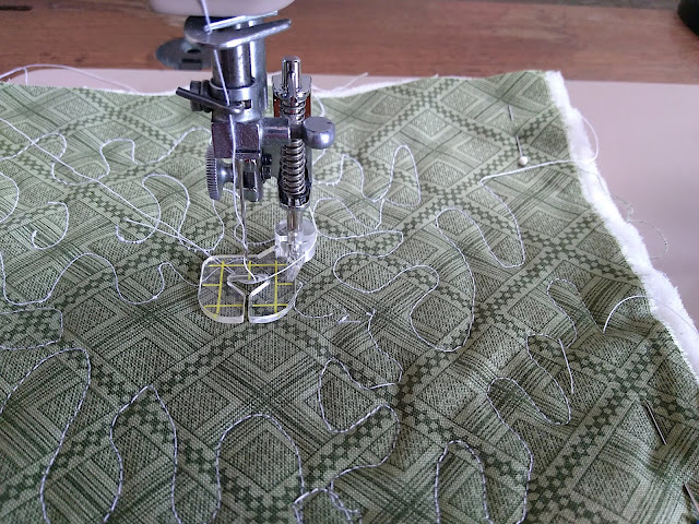 Results of free motion quilting on a Singer 503A