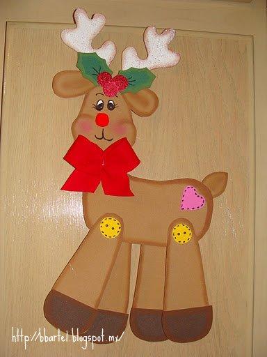 Con voluntad y creatividad se pueden hacer maravillas for Manualidades renos navidenos