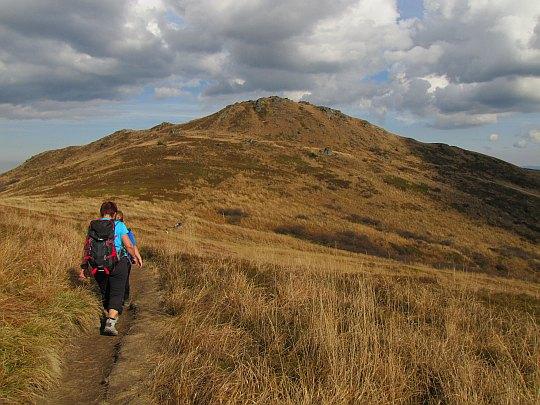 Przełęcz pod Kopą Bukowską (1320 m n.p.m.).