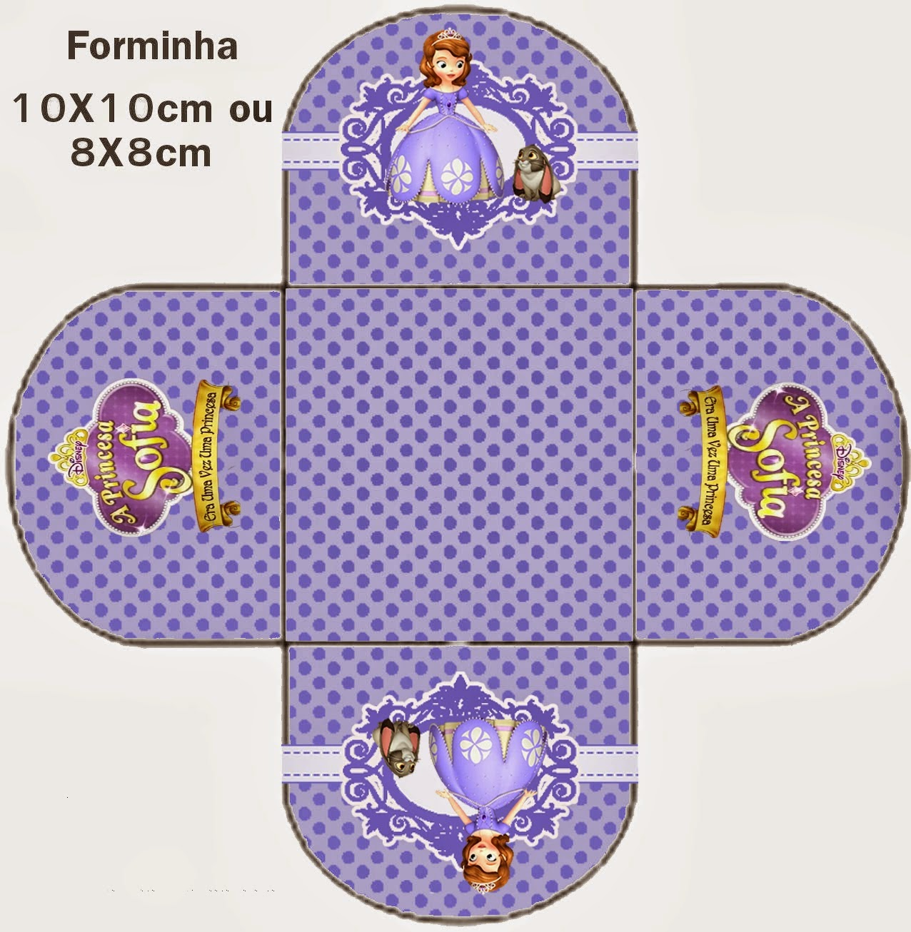 Princesa Sofia: Cajas Abiertas para Imprimir Gratis.