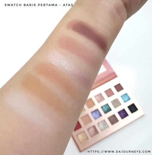 Review FOCALLURE Sweet as Honey Eyeshadow Palette