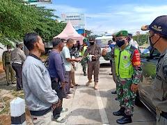 Aparat Gabungan Lakukan  Operasi Yustisi di Exit Tol Pekalongan