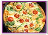 Vaječná omeleta se sýrem a zeleninou - Recepty a vaření