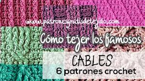 Cómo se tejen los puntos cables a crochet | Tutorial y patrones