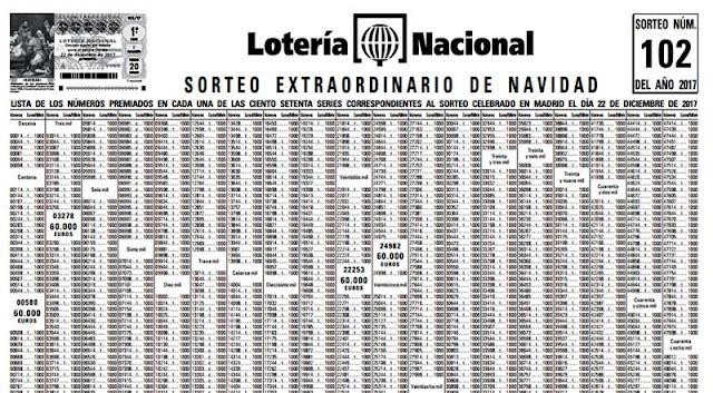 listado oficial de premios loteria de navidad 2017