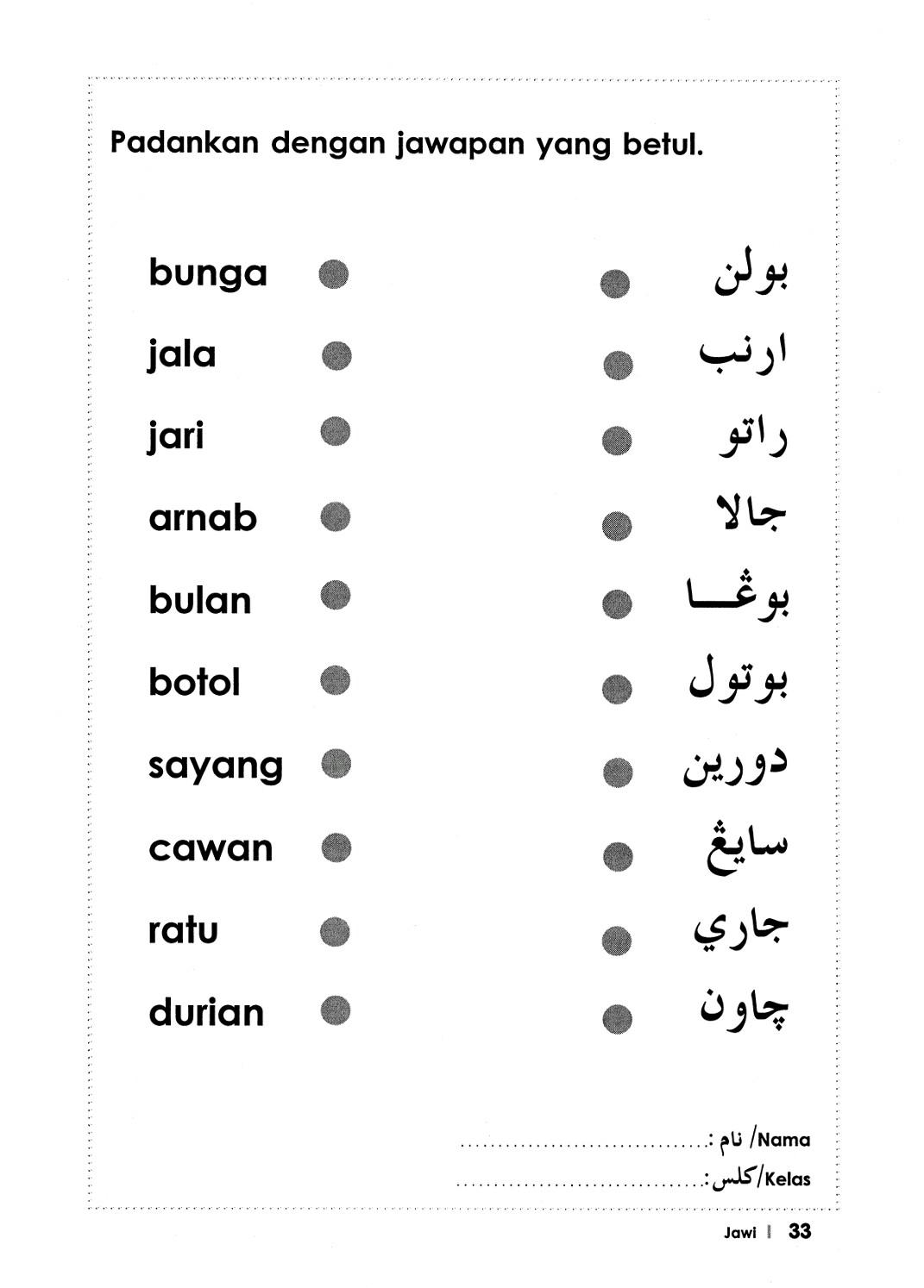 Citaten Rumi Dan Jawi : Latihan jawi alif hingga ya pendidik u